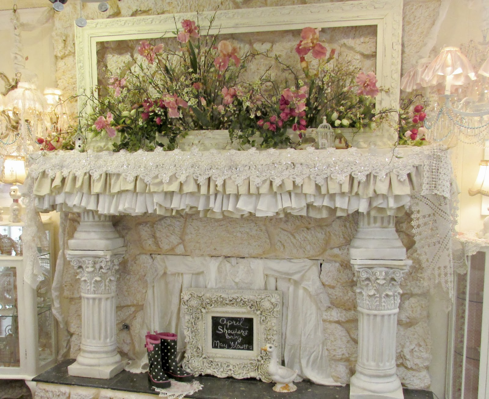 Penny Treasures - Spring Mantel