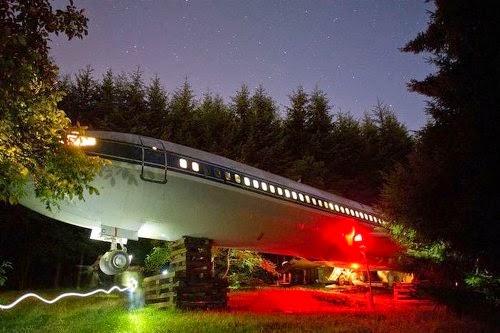 Unik Rumah Ini Terbuat Dari Pesawat Boeing 727