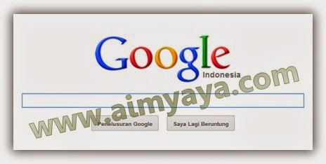 Gambar: Antarmuka (Interface) Google Search Engine