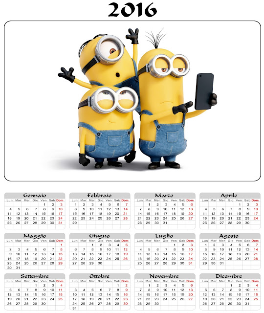 I Minions - Calendario 2016