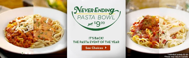 Mama Nibbles Olive Garden 39 S Unlimited Pasta Bowl Is Back