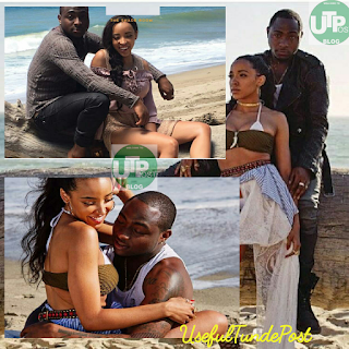 "More hot photos- Nigerian artist Davido spotted with Tinashe on set of their new music video called ""How Long"""
