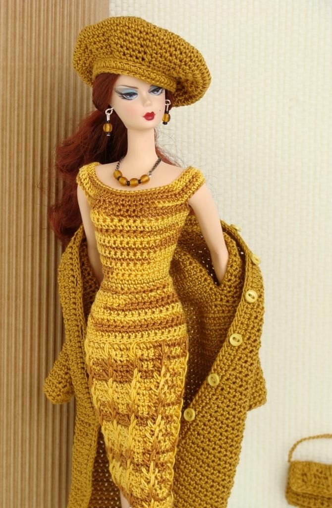 Coisas Da Andreia Pap Da Roupa De Croche Para Barbie