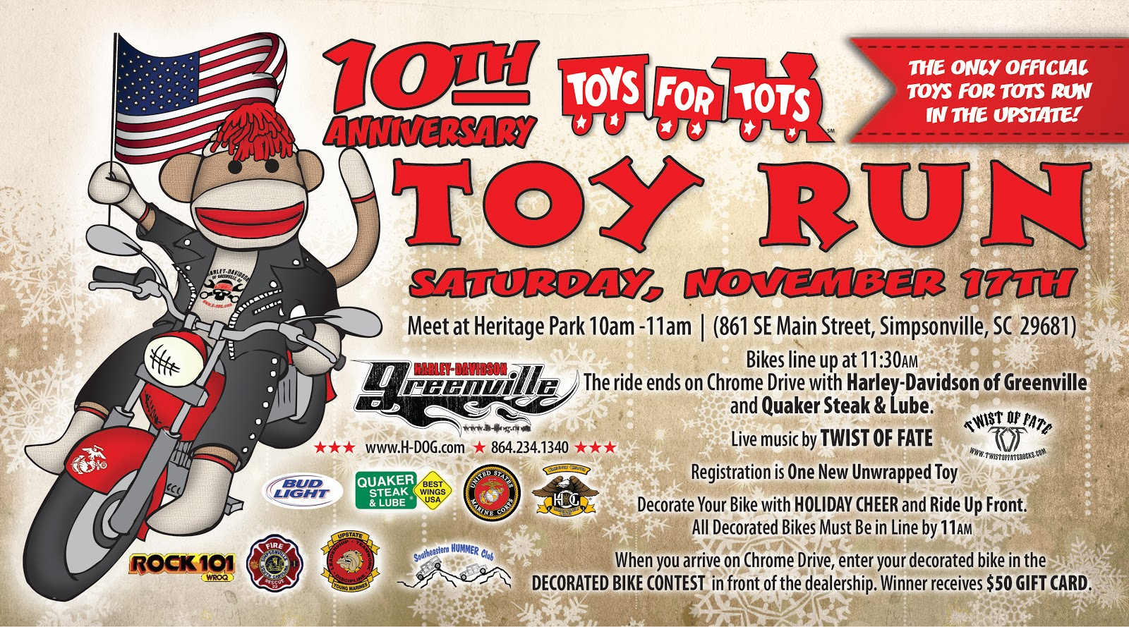 Train Toys For Tots : Motorcycle riders update november