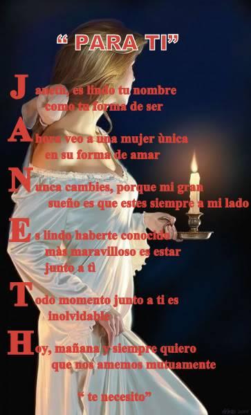 """ JANET... Carlos Ca"