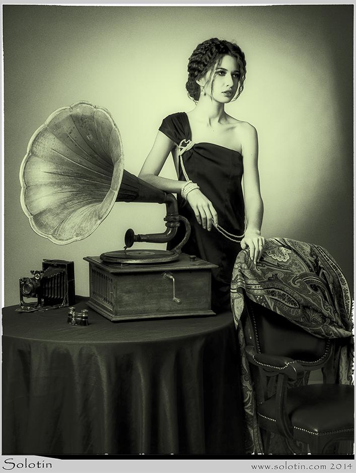 Мисс Тамбовская область, модель, фото, девушка, ретро, граммафон