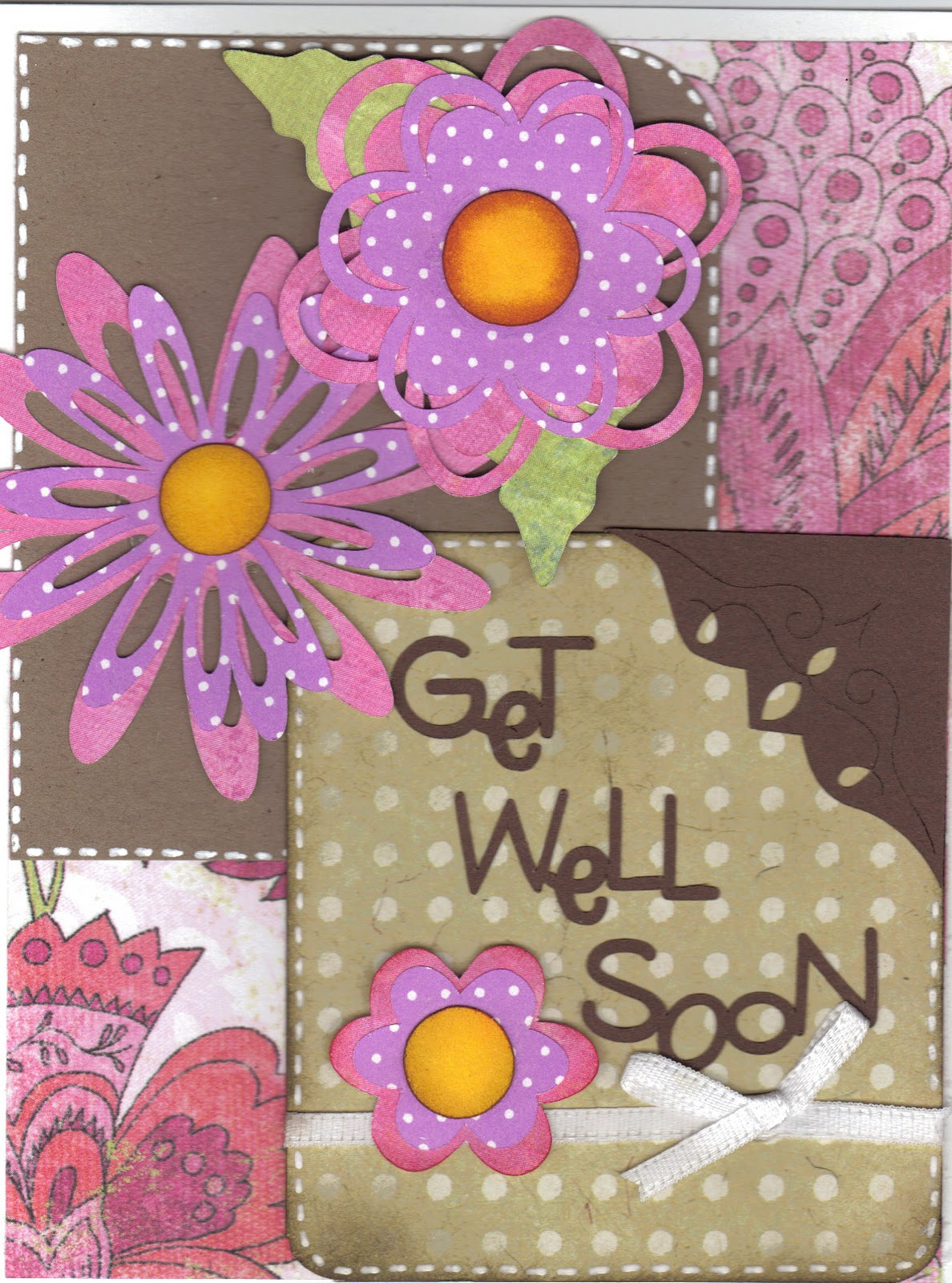Paper Crafts With The Pink Armadillo Get Well Soon