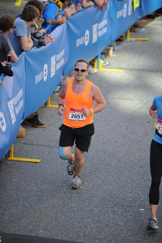 Final dash Finish Line Vancouver marathon