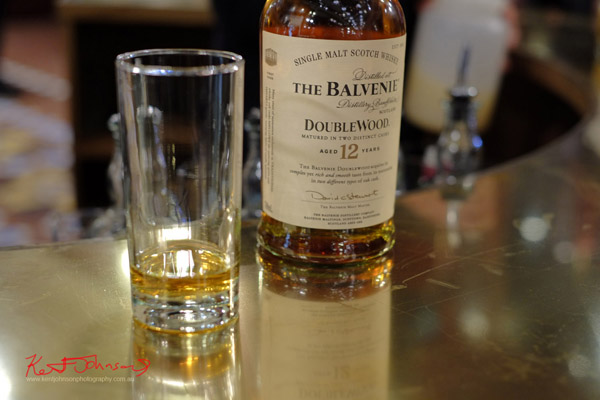 The Balvenie Double Wood 12 year old single malt whisky. The Strand Arcade, Evening with our Designers. Photography by Kent Johnson.