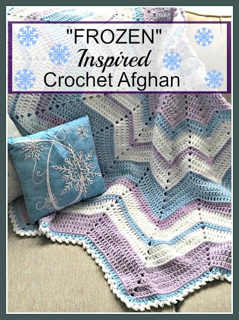 Frozen inspired crochet afghan