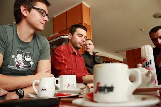 góbé meditáció : kávé, cappuccino