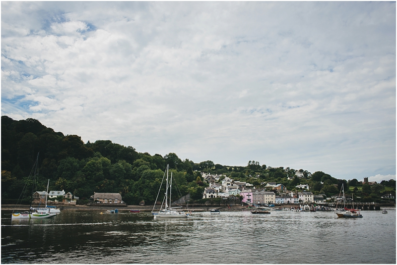 View across to Dittisham on the River Dart