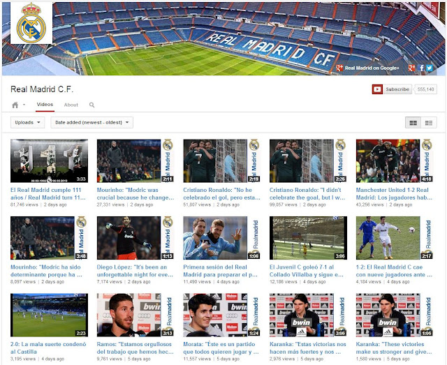 real madrid youtube one channel