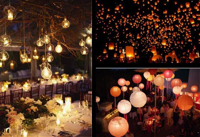 iluminacion exterior para boda