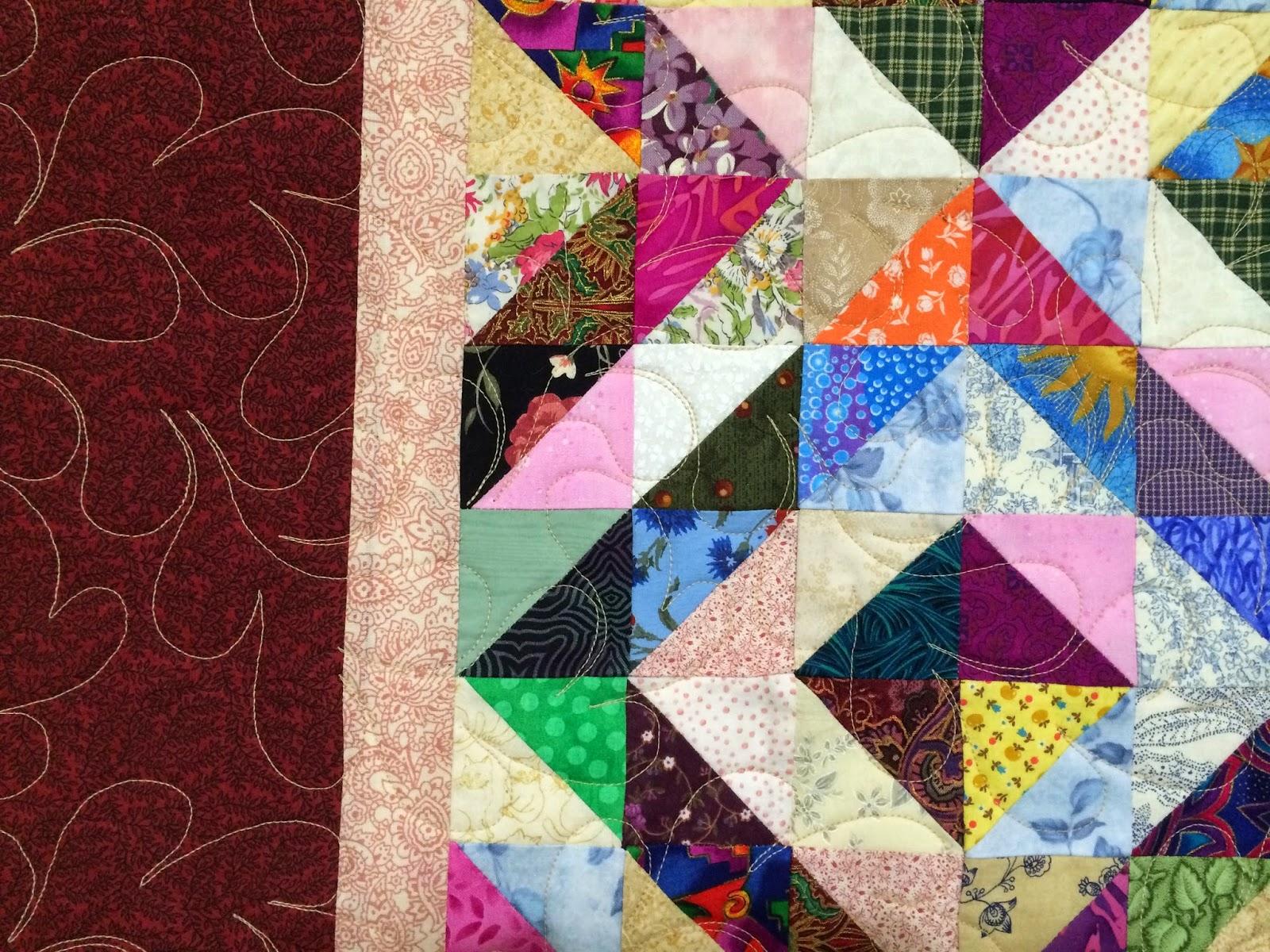 Joty Majka's Multi-color Diamonds on Point Quilt