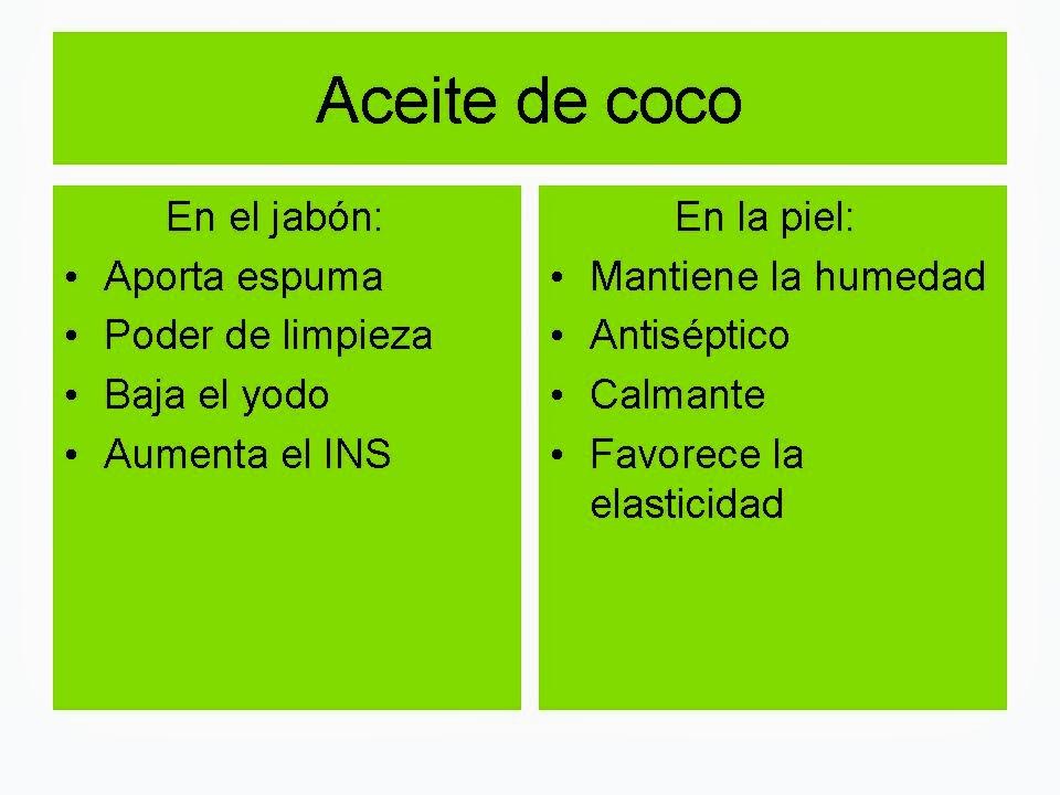 Cualidades del aceite de coco