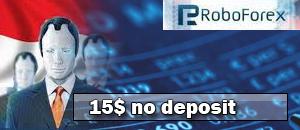 Roboforex $15 no-deposit bonus