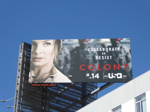 Sarah Wayne Callies Colony series billboard