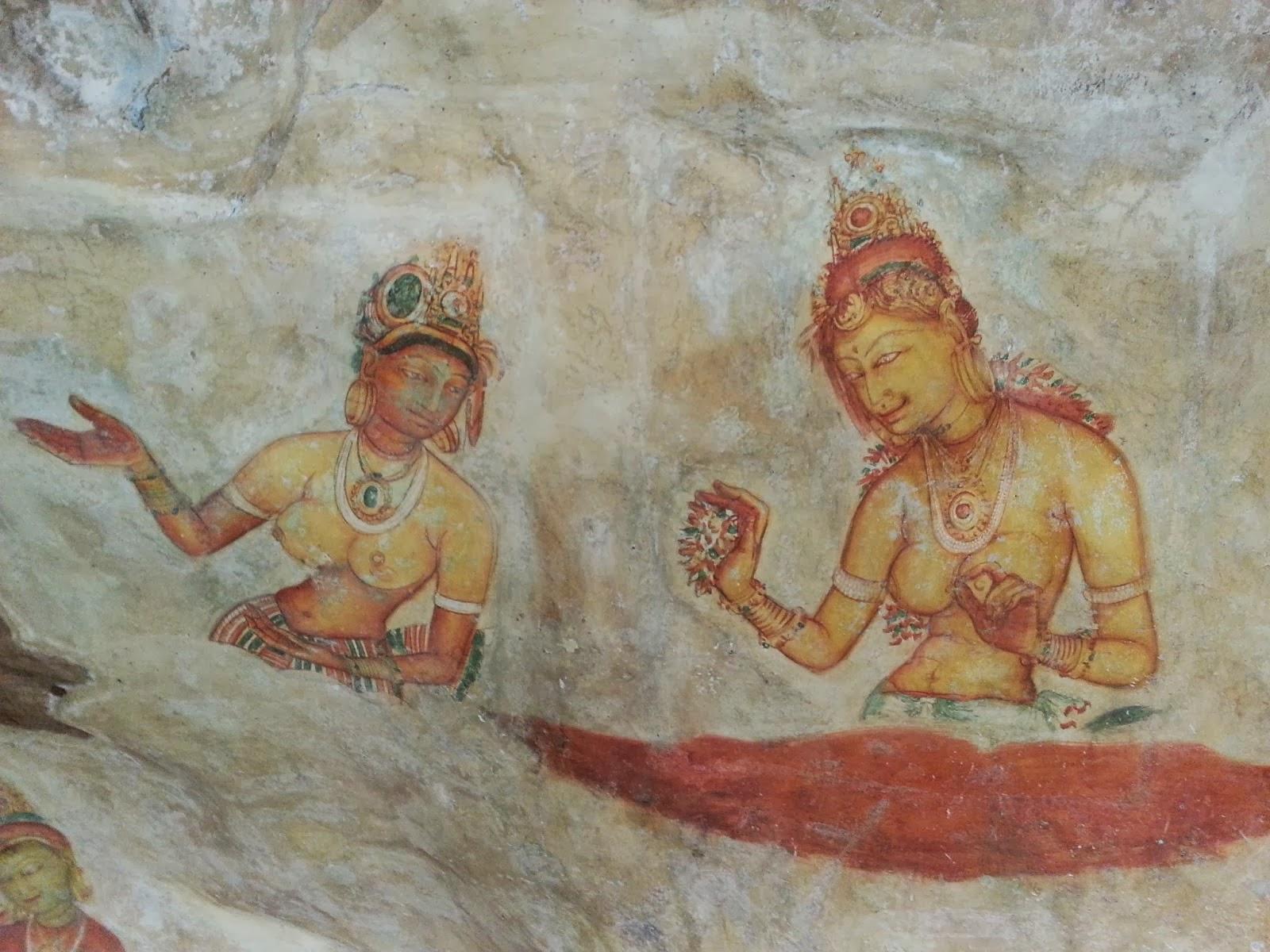 Загадки Сигирии, кто были красивые девушки, принцессы, танцовщицы, монахини, жрицы, мировое наследие Шри-Ланки