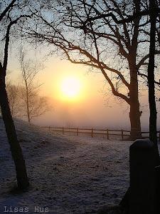 Solnedgång i december!