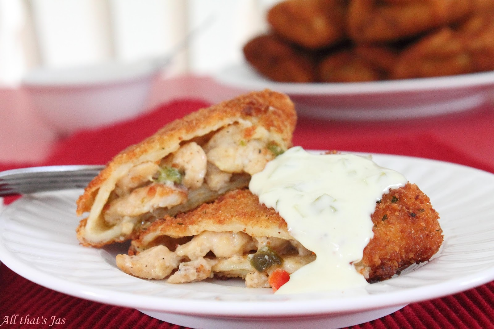 Chicken-Filled Crepes with Tartar Sauce
