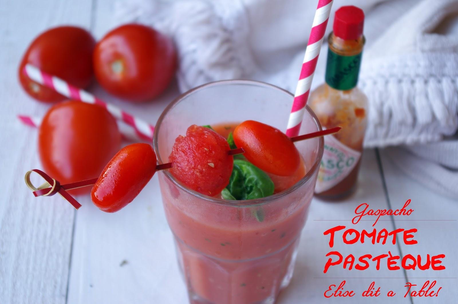 recette Gaspacho de pastèque et tomate