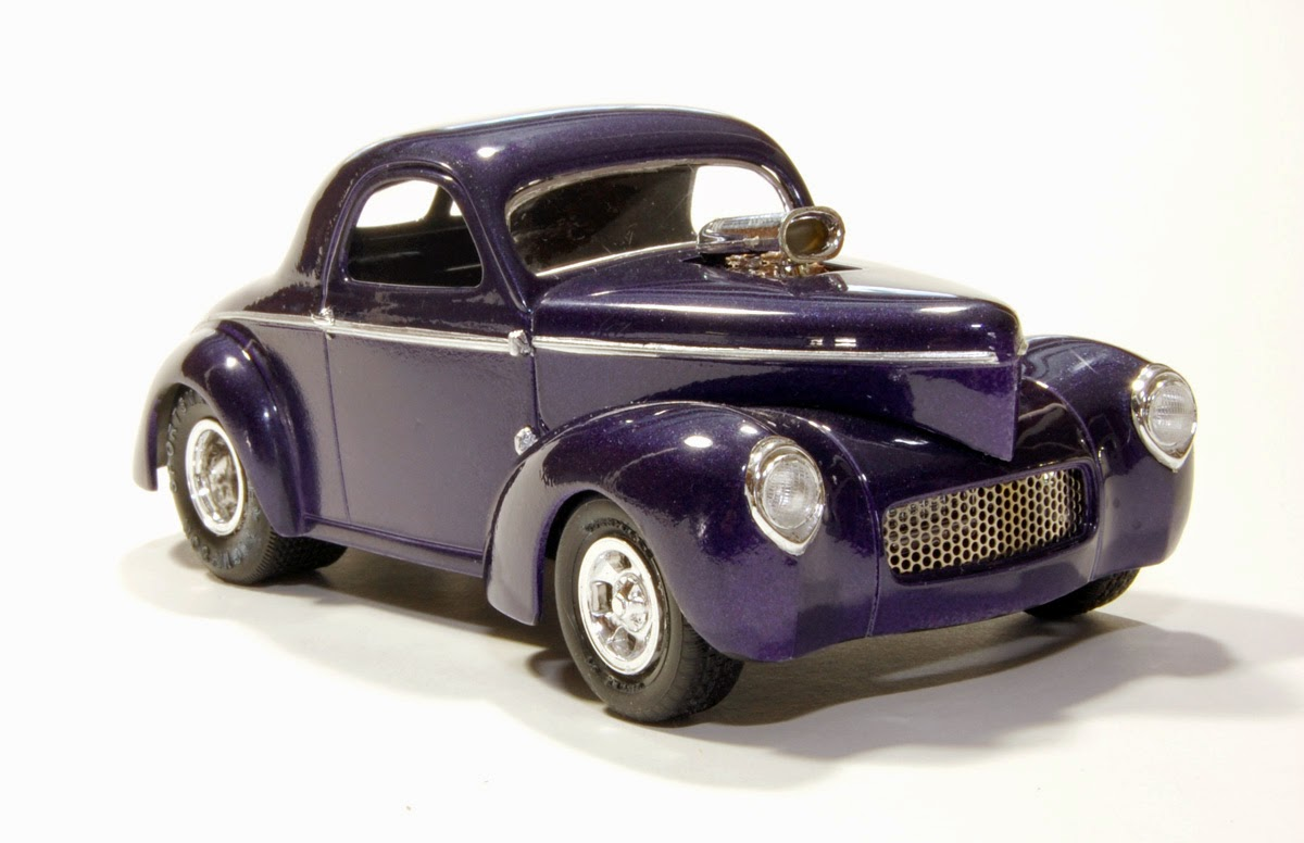 Model Car Builder Blog: 41 Willys Hot Rod Project--FINISHED