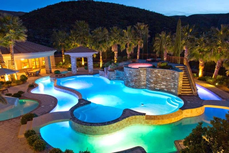 24 wonderful luxury home swimming pools for Luxury swimming pools