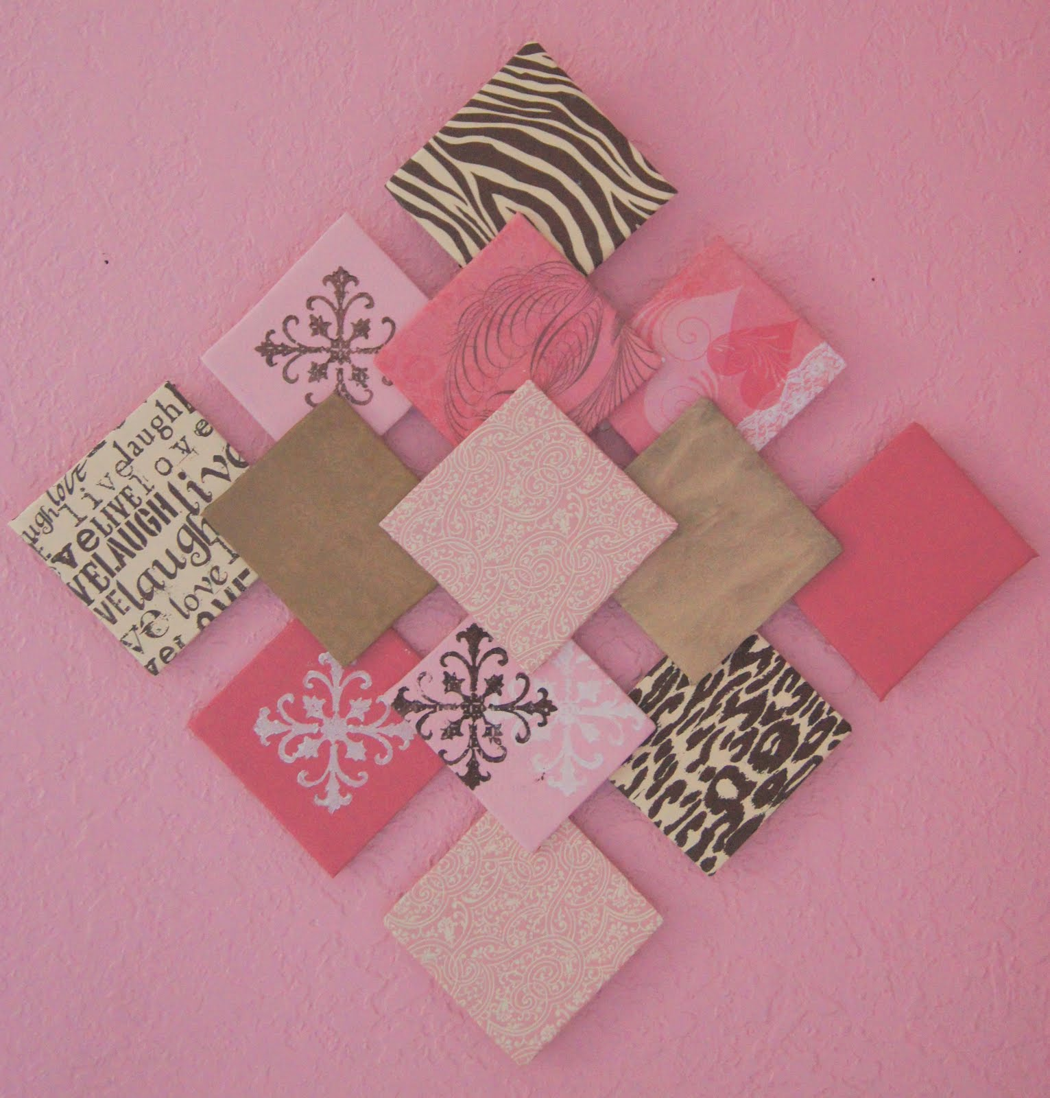 Diy Wall Art With Scrapbook Paper : Wall decoration with art paper grasscloth wallpaper