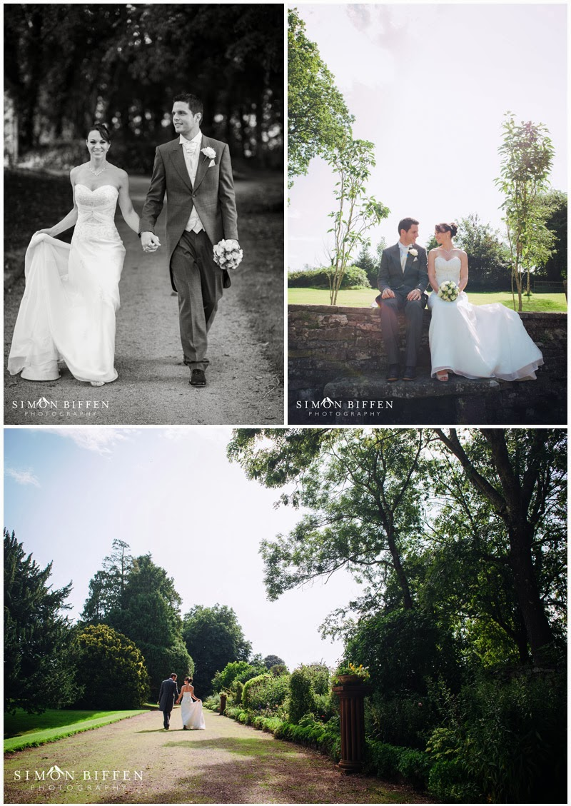 Clearwell Castle wedding bride and groom