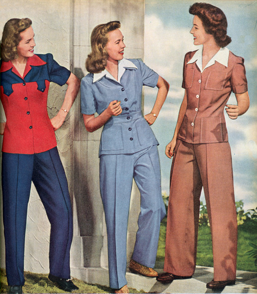 Modestia Pantaloni La Donna Anni '40 I E Negli Santi F5wzqpaa