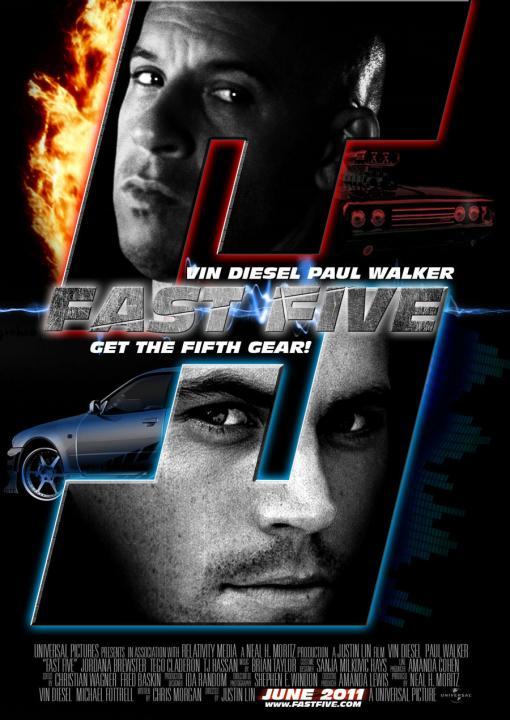 poster rapido y furioso 5 20111 Rapido y Furioso 5 [A Todo Gas 5]   Español Latino