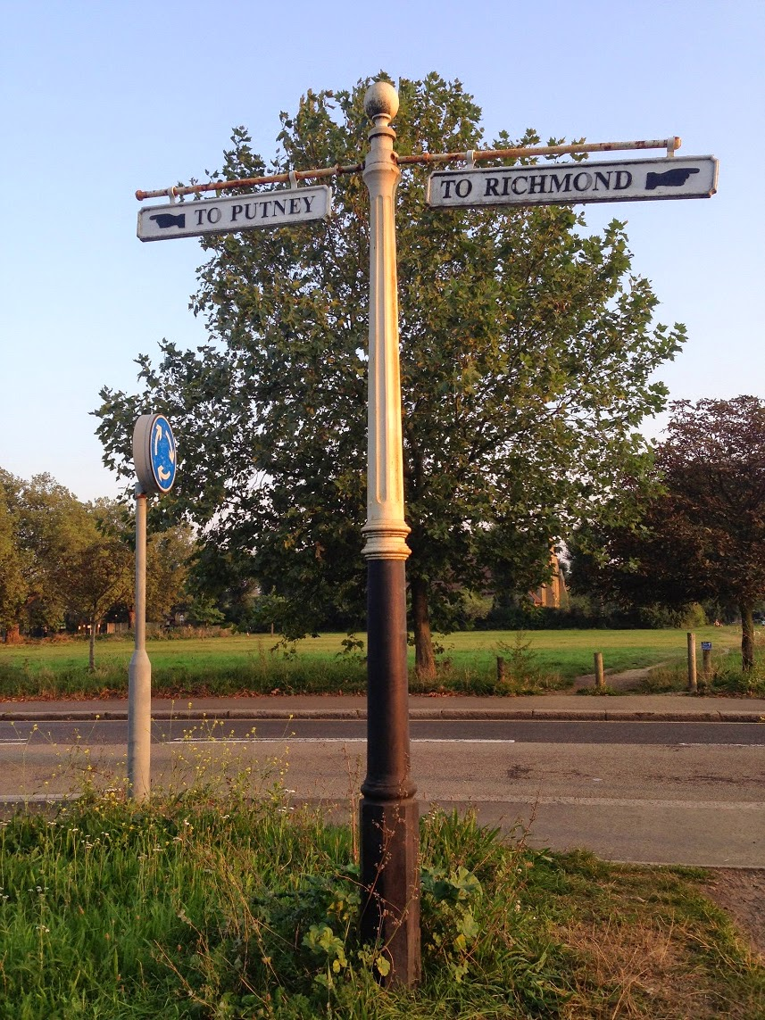 Old signpost, Putney Common, London SW15