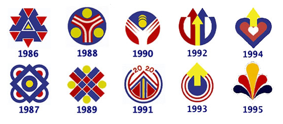 Logo Sambutan Kemerdekaan dari tahun 1986 - 1995