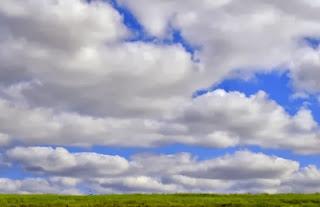 Cloudy prairie landscape