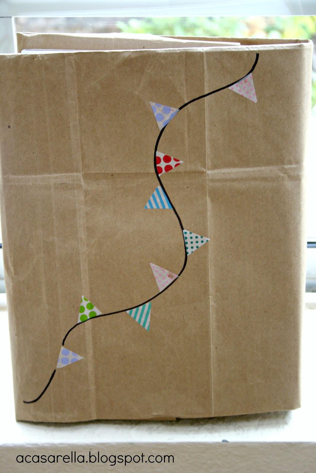 Paper Bag Book Cover Decoration : Decorating paper bag book covers a casarella