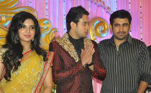 Actor Bharath Jeshly's Wedding Reception Stills