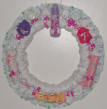 A Diaper Wreath I Created