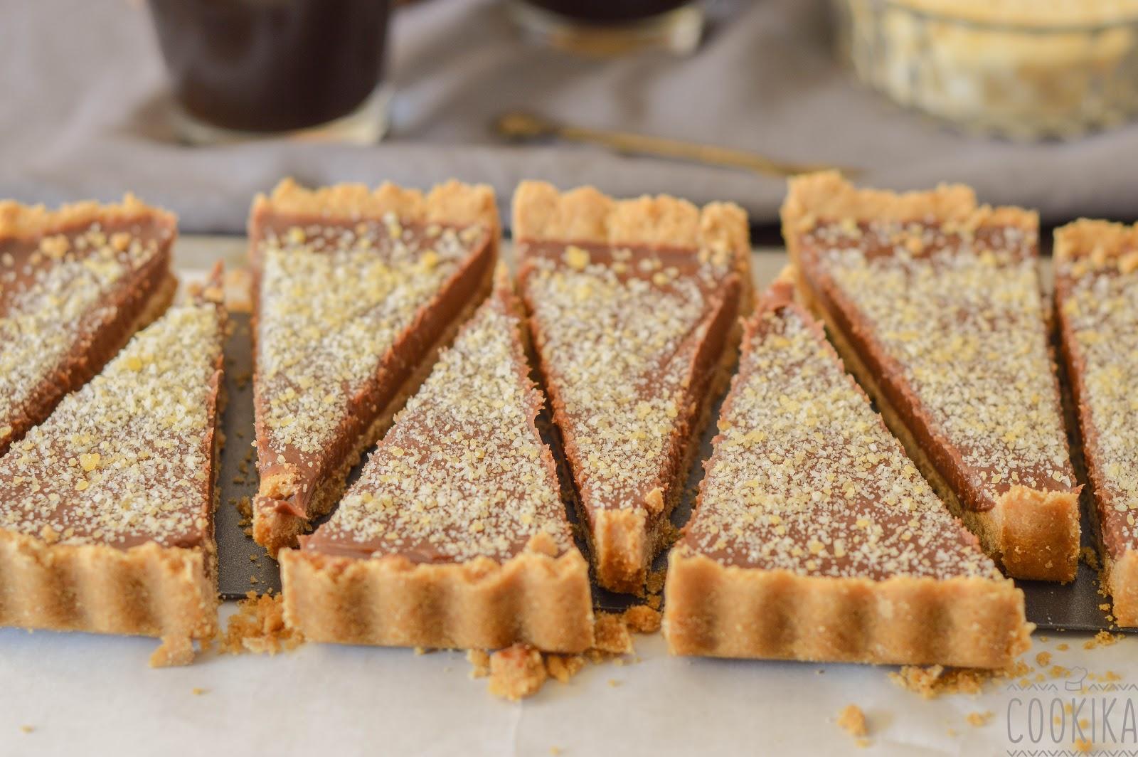... αμυγδαλου   Milk Chocolate Tart with Almond Praline
