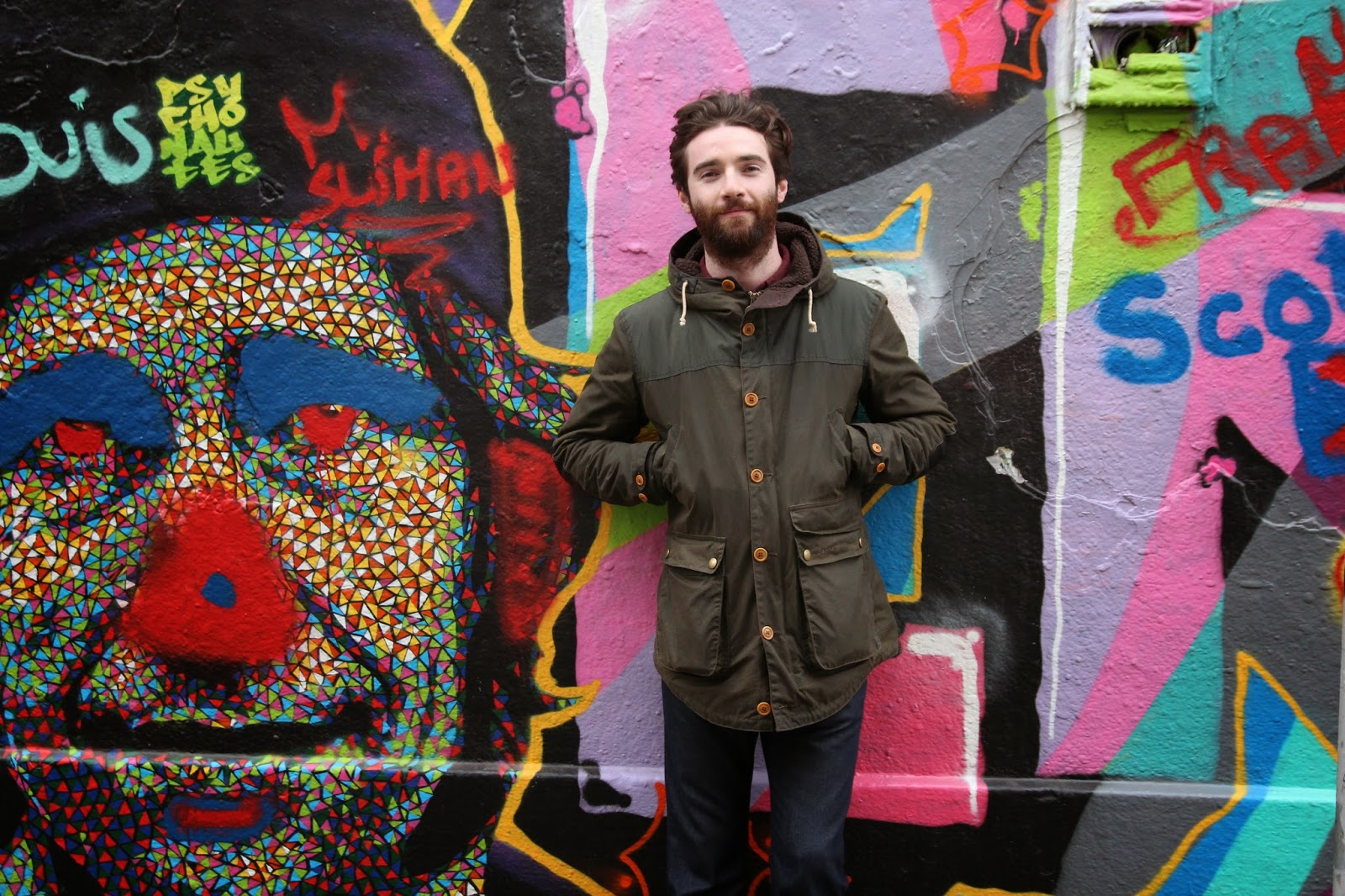dublin, travel, street art, handsome, beard