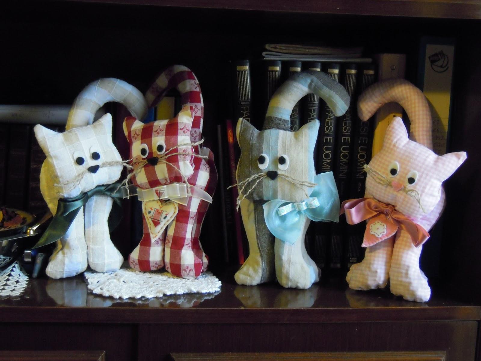 Mds magie di stoffa gatti ferma porta libri o solo - Porta per gatti ...