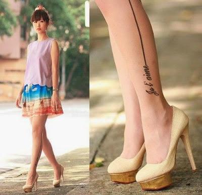 Mẫu hình xăm nhỏ đẹp ở chân cho nữ 5