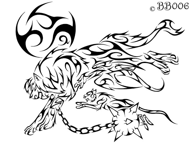 free coloring pages of tribal lion