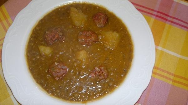 Las recetas de mi casa lentejas con chorizo tmx - Lentejas con costillas y patatas ...
