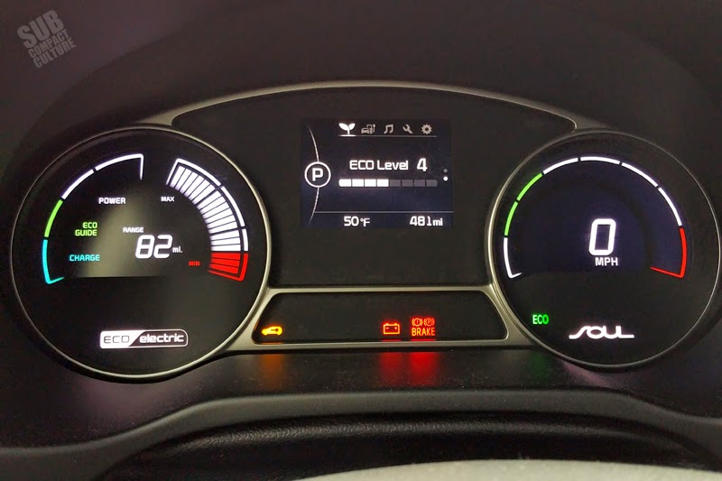 Kia Soul EV gauges