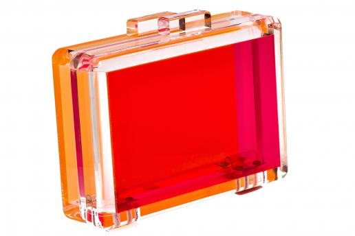 Charlotte Olympia-Pandora Perspex Clutch