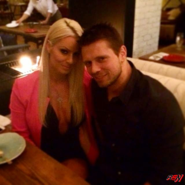 The Miz Photobombs this Photo of Maryse.
