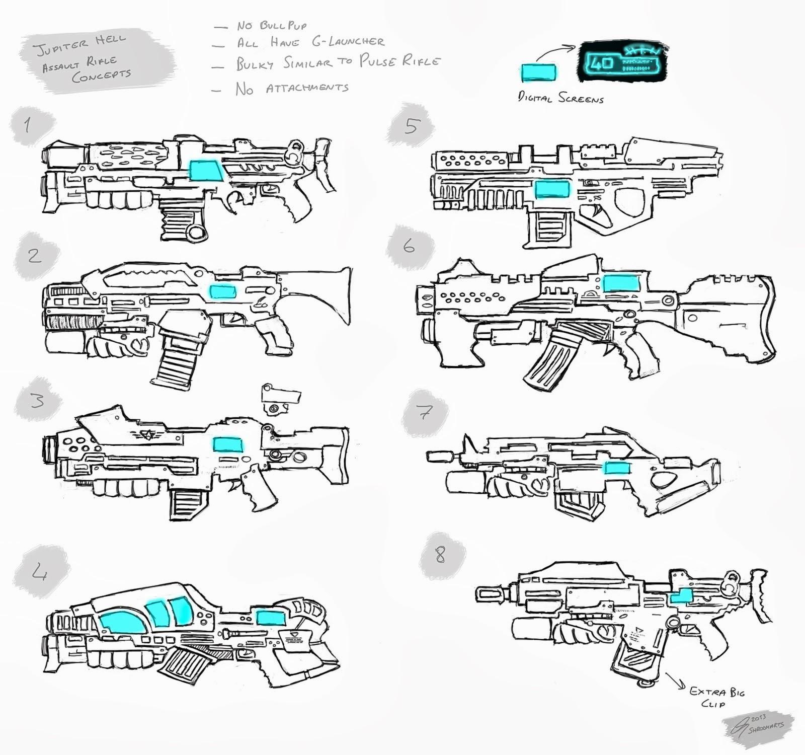 Jupiter Hell - Assault Rifle concepts