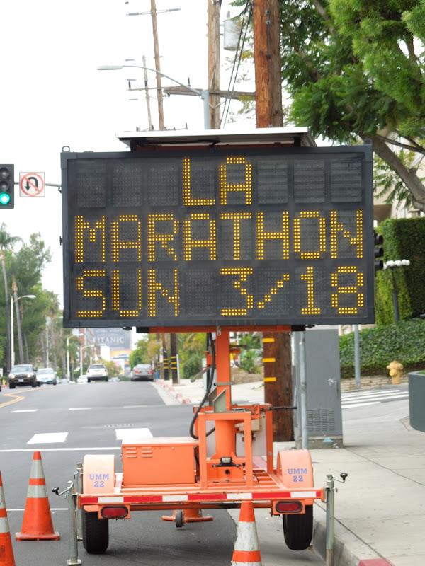 LA Marathon street sign