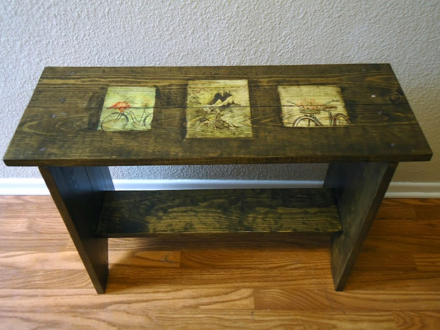 French Typography Bench - SOLD